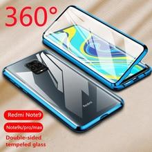 Двусторонний чехол из металлического стекла с магнитной адсорбцией на 360 градусов для Xiaomi mi CC 9 9E 9T Red mi Note 7 K20 Pro CC9 чехол для телефона