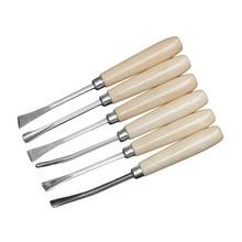 OUTAD 6 pièces/ensemble travail du bois ciseaux à découper outils Gouge biais outils de sculpture bricolage professionnel outils à main pour charpentier