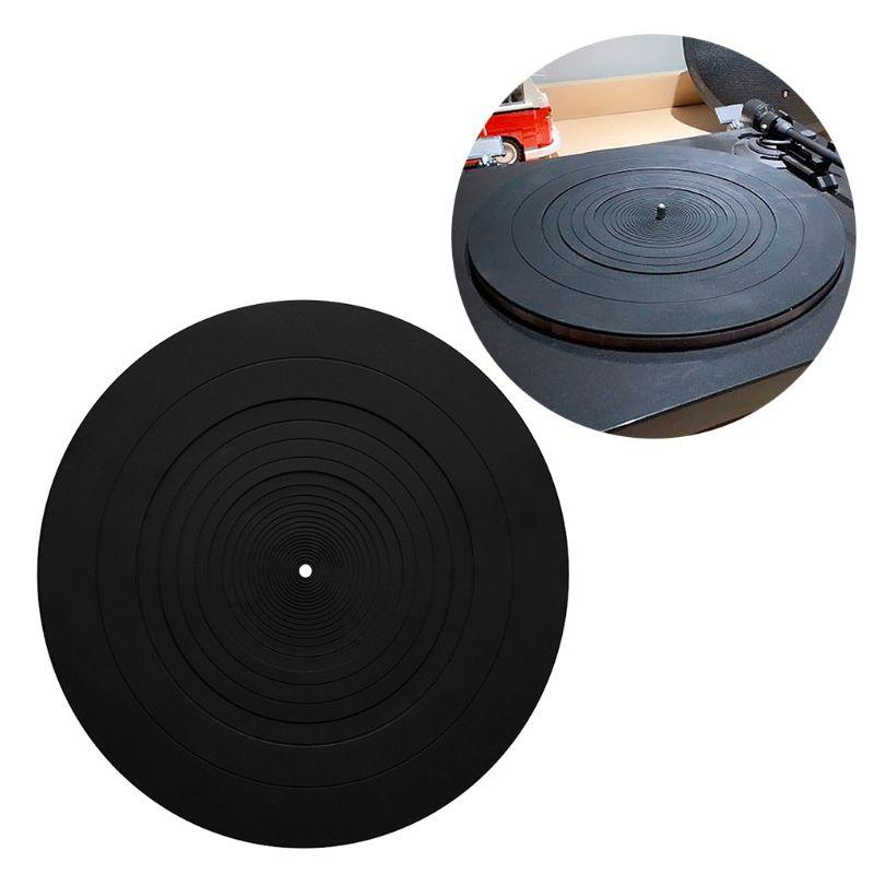 Alfombrilla antideslizante LP de goma antivibratoria de silicona para fonógrafo giradiscos accesorios para grabadores de vinilo #917