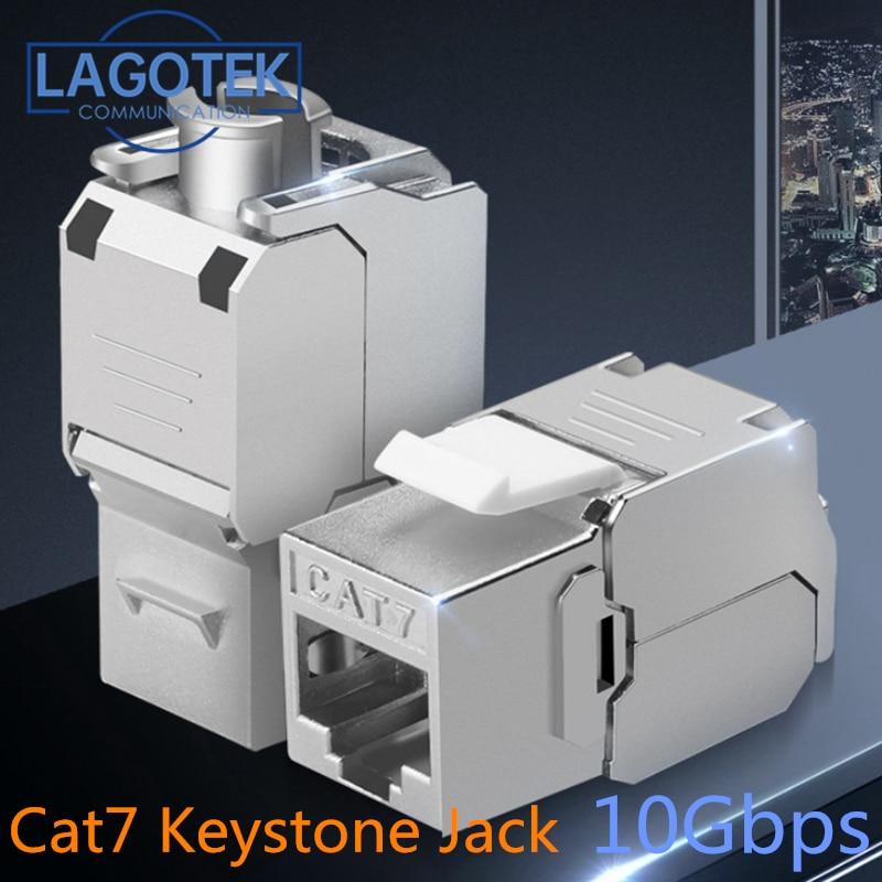 كيستون-موصل RJ45 ، Cat7 Cat6A FTP ، سبائك الزنك ، محول ، بدون أدوات ، شبكة 10 جيجابايت