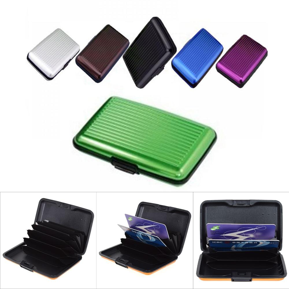Pocket Business ID Credit Cards Wallet Holder Case Aluminum Metal men Waterproof business ID credit