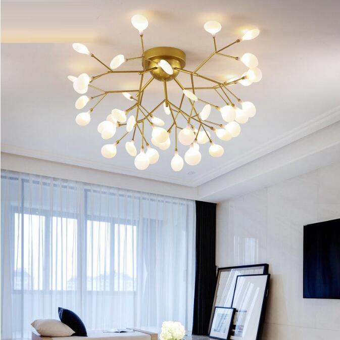 مصباح سقف LED بتصميم مبتكر حديث ، إضاءة داخلية ، إضاءة سقف زخرفية ، مثالية لغرفة المعيشة أو غرفة النوم ، 110 فولت/220 فولت