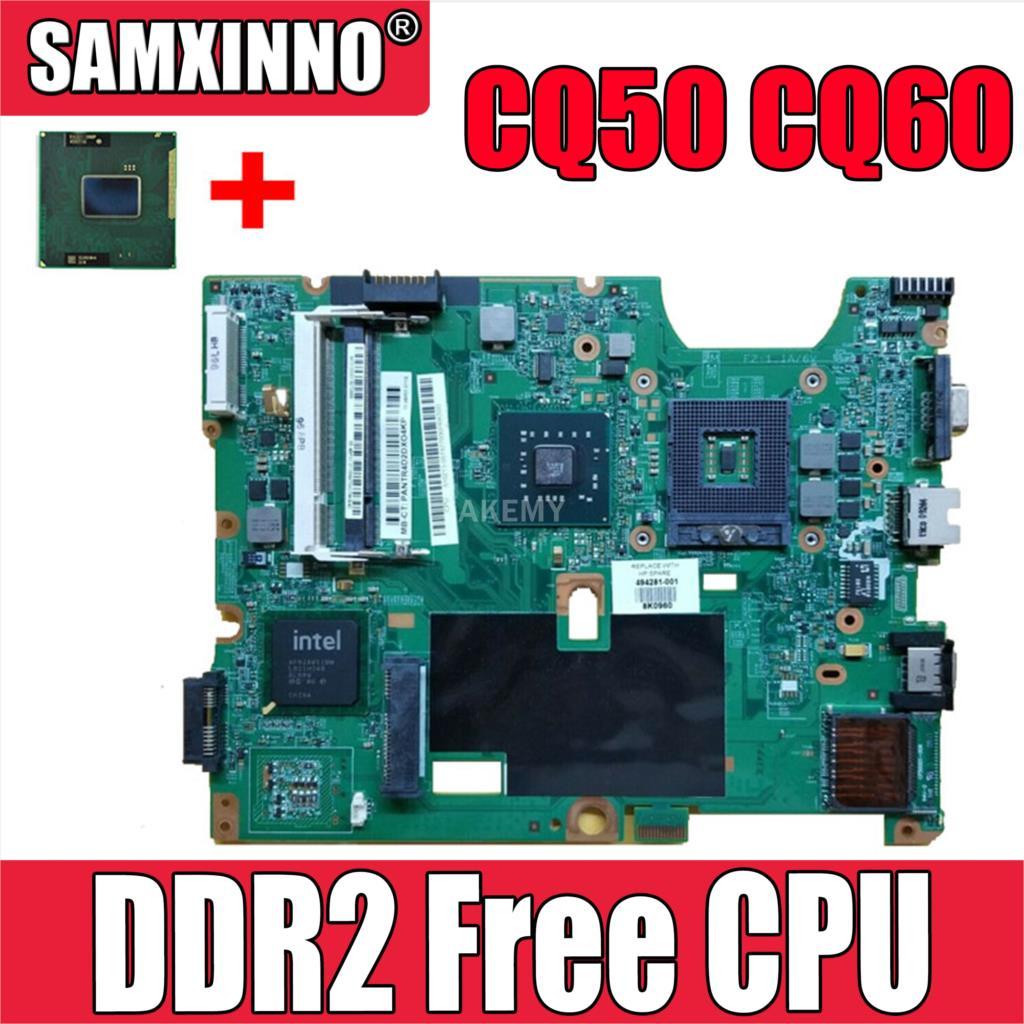 Akemy اللوحة لابتوب HP G50 G60 CQ50 CQ60 سلسلة 485219-001 48.4H501.021 GL40 4500MHD DDR2 شحن وحدة المعالجة المركزية