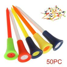 50Pcs/Set 83mm Durable Golf Tees Cushion Top Ball Holder Training Outdoor Sports Accessories