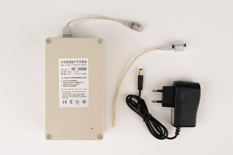 بطارية ليثيوم أيون قابلة لإعادة الشحن ، 12 فولت ، 20000 مللي أمبير ، محمولة ، مقاومة للماء ، كاميرا DC122000