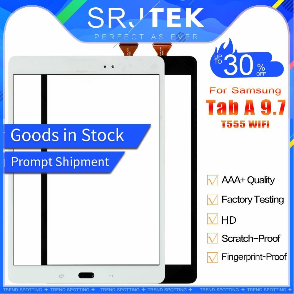 Srjtek pour Samsung Galaxy Tab A 9.7 SM-T555 T555 T550 WIFI écran tactile numériseur verre capteur pièces tablette Pc écran tactile