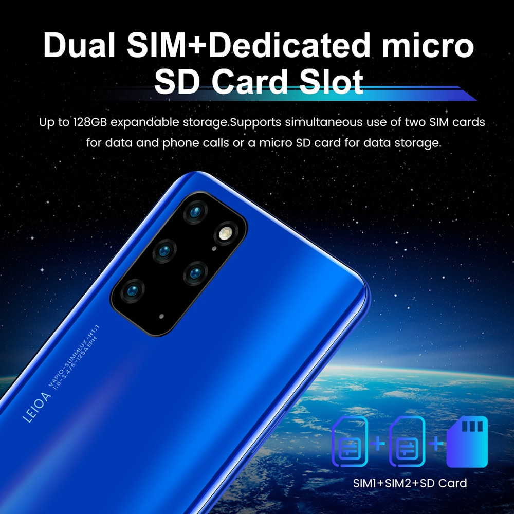 Global Version Smartphone Galay S20+ Pro Ultra 7.2 Inch Unlock  4G 5G Telephone Android 10.0 16MP+32MP 12GB+512GB Mobile Phones enlarge