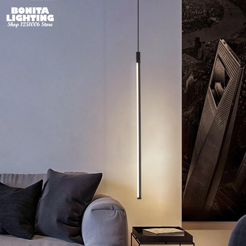 Droplight loft moderno e minimalista de cabeceira linhas cilindro tubo redondo design da lâmpada pingente iluminação led luzes penduradas quarto