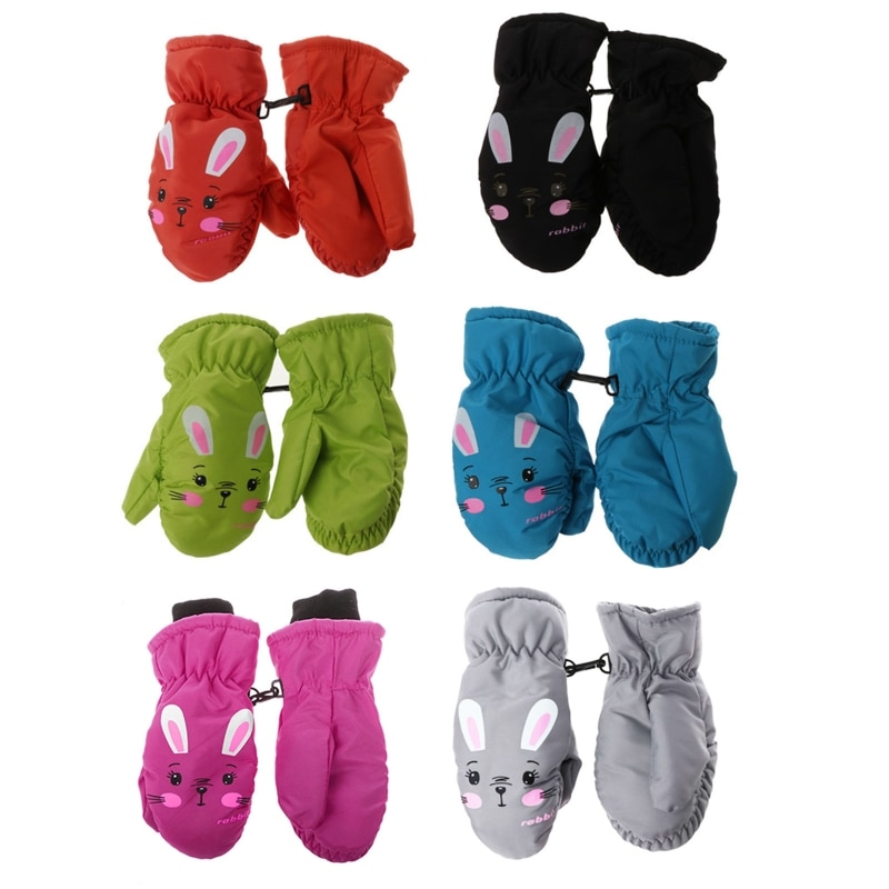 Kids Winter Warm Gloves Windproof For Children Boys Girls Ski Cycling Climbing Outdoor Gloves Waterproof