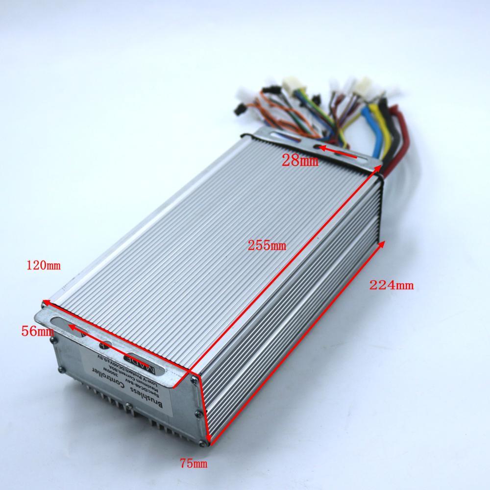 GREENTIME 24 MOSFET 48-72 فولت 3000 واط 80Amax BLDC وحدة تحكم المحرك ، EV فرش سرعة تحكم ، الاستشعار و sensorless