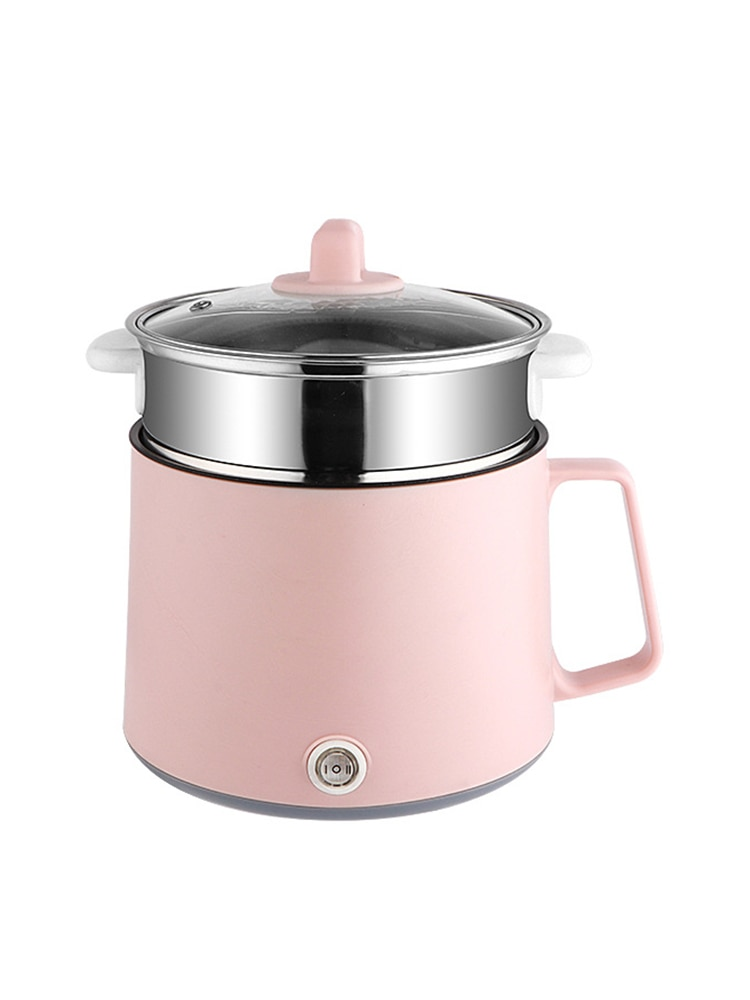 Multifunctional electric cooker 220v hot pot noodle rice cooker mini electric cooking machine Single/Double LayeNon-stick Pan multifunctional rice cooker 400w low power mini household electric cooker