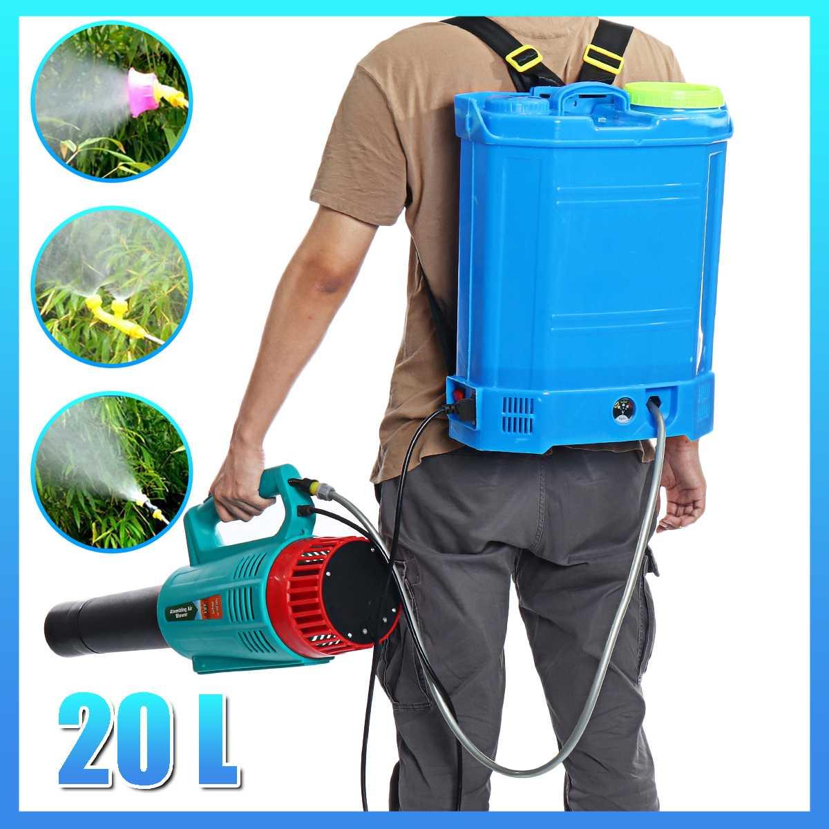 معدات رش المبيدات الزراعية حقيبة ظهر ذكية للحديقة حقيبة بخاخ 20 لتر بطارية 12 فولت 220 فولت كهربائية ULV فوجر