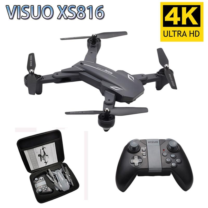 Visuo XS816 RC Drone 4K 1080P كاميرا مزدوجة WIFI FPV الطائرات بدون طيار فتة اطلاق النار المهنية Selfie Drone VS XS809HW XS809S E58 SG106