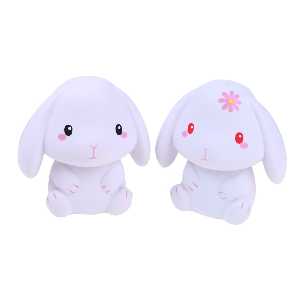 Adorable Rabbit Slow Rising Cream Scented Stress Relief Toys Stress Ball Fidget Toys Toys For Children Squish Toy enlarge