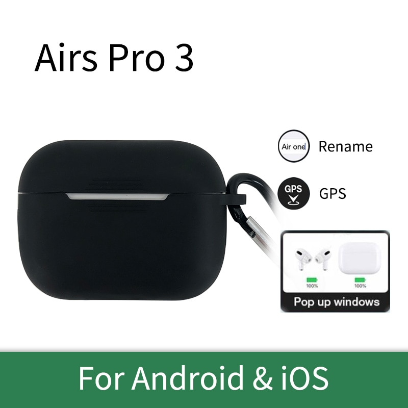 Airs Pro 3 earbuds Wireless Bluetooth 5.0 Hifi Sound earphones with Silicone case Sports music earpo