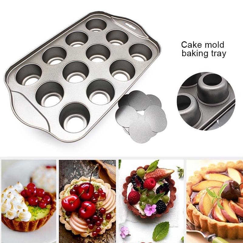 Для Кухни Плесень12 Mini torta bandeja de queso copa no palo Muffin...