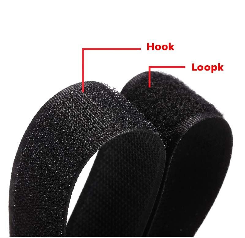 Купить с кэшбэком 1.6cm-10cm Nylon Velcros Fastener Tape no Adhesive Sewing Magic Loop Hook Sticker Strip Clothing Stick Tape Velcroing