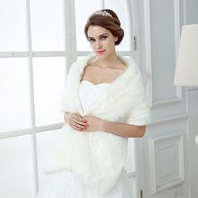 Bolero de marfil cálido para mujer, chaquetas suaves de piel sintética de 160 CM, talla única, accesorios de boda, chales nupciales, gran oferta
