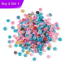 Perles Heishi, rondes et plates, faites à la main, environ 660 pièces/20g, 5 ~ 5.5x1mm, perles Heishi, couleurs mélangées, pour la fabrication de bijoux, Bracelet à bricoler soi-même