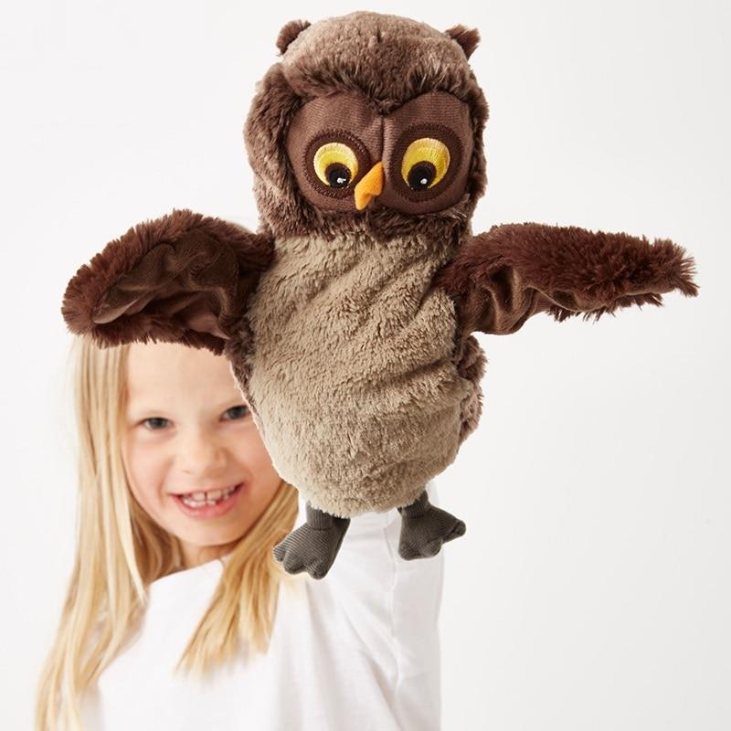 25 см kawaii мультфильм Животные Сова птица плюшевая рука кукла ребенок спящий день Рождественский подарок праздничный подарок