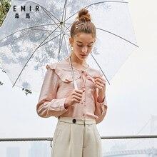 SEMIR femmes en mousseline de soie blouse 2020 été nouvelle mode personnalité design dentelle en vrac mignon coton chemise pour femme