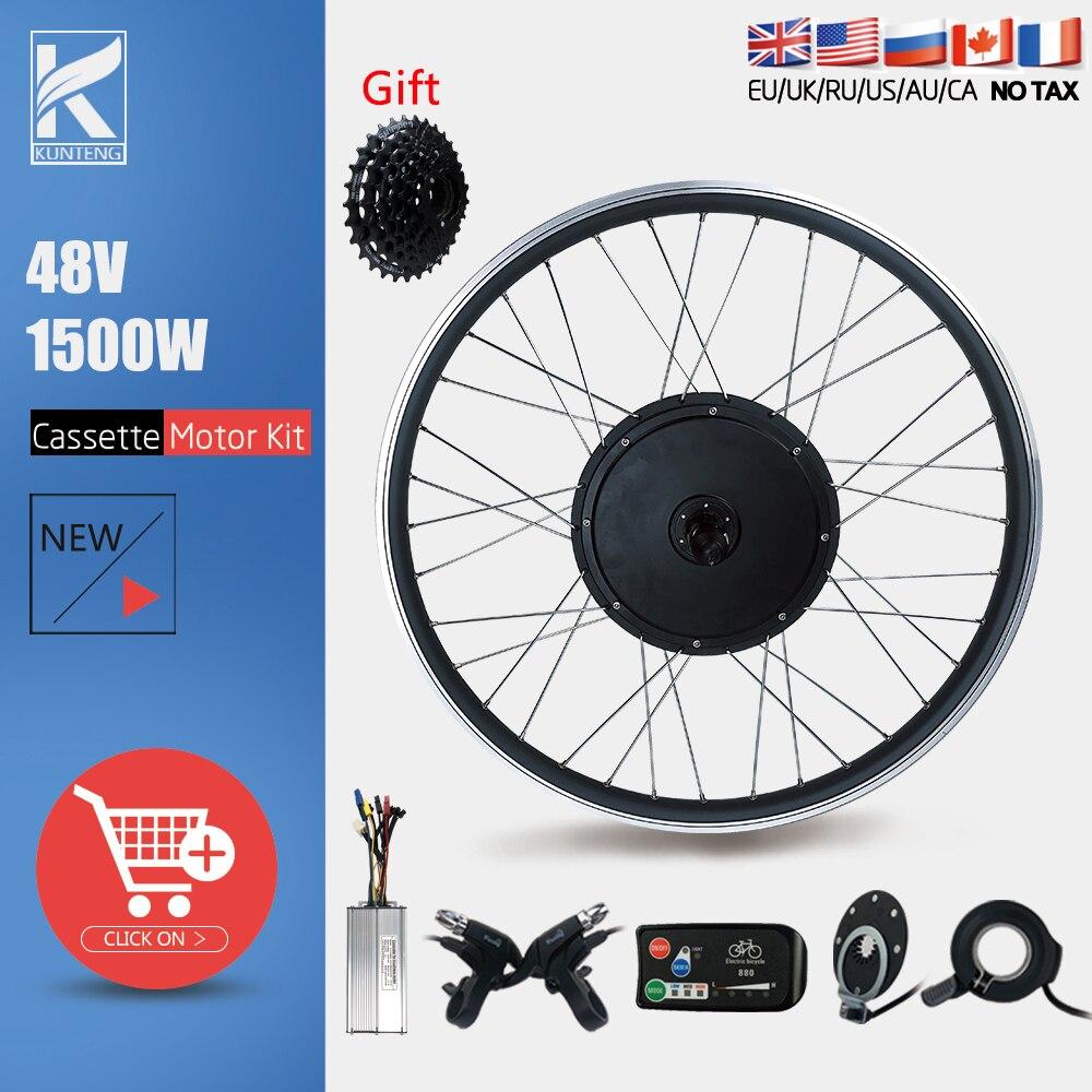 Ebike Conversion Kit 48V 1500W Rear Cassette Motor Kit 20-29inch 700C Rear Bike Wheel For Electric Bicycle Conversion Kit