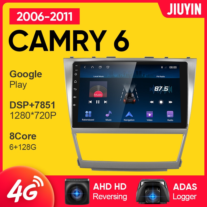 JIUYIN android radio de coche para Toyota camry 6 40 50 2006-2011...