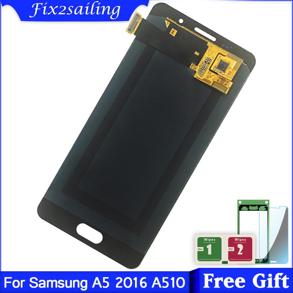 Para Samsung Galaxy A5 2016 a510 A510F A510M A510FD A5100 pantalla LCD + pantalla táctil Super AMOLED LCDS
