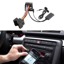 Car Bluetooth 5.0 Aux Cable Microphone Handsfree Mobile Phone Free Calling Adapter For- A2 A3 A4 TT