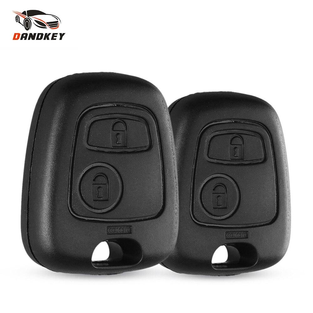 Dandkey Авто 2 кнопки для Peugeot пульт дистанционного управления брелок чехол для Toyota AYGO аксессуары для Citroen без лезвия без логотипа