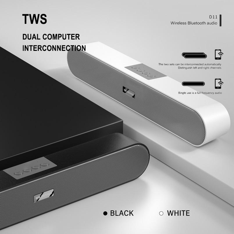 REMAX WK-D11 Speaker Wireless Waterproof Outdoor Mini Column Loudspeaker Bluetooth V5.0 Support TF Card FM Stereo Hi-Fi Boxes enlarge