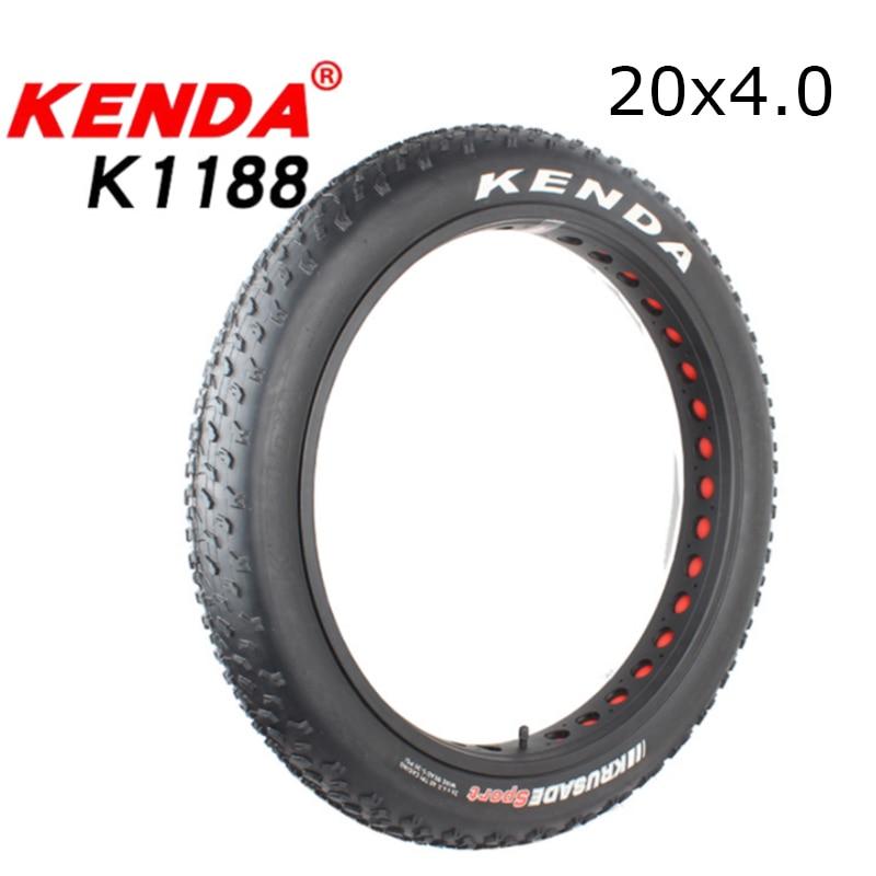 1pc kenda k1188 bicicleta atv pneu de praia pneu 20*4.0 cidade pneus de gordura pneus de bicicleta de neve 60tpi ultraleve 1060g fio grânulo