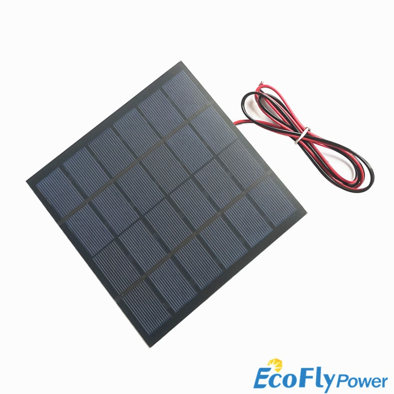 3W 12V Solar Power Panel Battery Charger Panel for Home Lighting System Portable 3W 12V A-Class Polysilicon Solar Power Battery