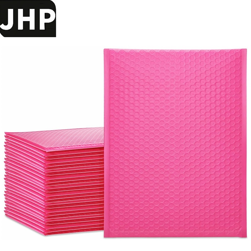 25PCS Pink Color 9.5x13.5inch 10.5x15inch BIG Size Bubble Mailer Envelopes,Self Sealing Packing Bags With Bubble Lining