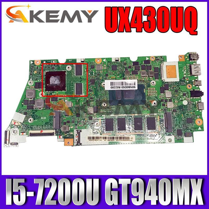 UX430UQ اللوحة لابتوب ASUS ZenBook UX430UQ UX430UQK UX430UN UX430U اللوحة الأصلية 16GB-RAM I5-7200U GT940MX