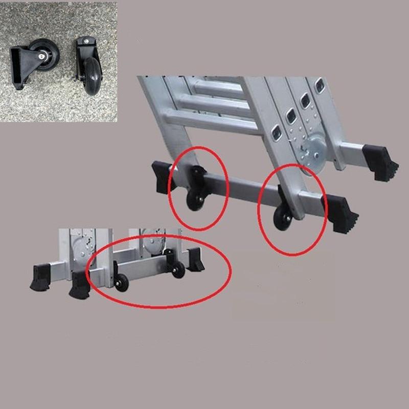Сверхпрочные нейлоновые колесики для лестницы, дополнительные подвижные колеса для телескопической складной ступенчатой лестницы, детали...