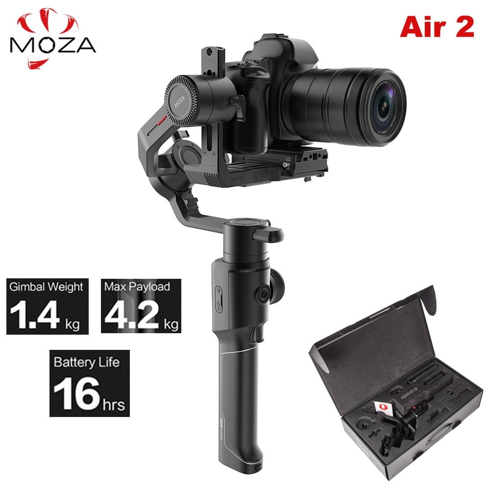 Moza Air 2 Air2 3-Axis Handheld Gimbal Stabilizer Maxload 4.2KG for Sony Canon DSLR PK DJI Ronin S Zhiyun Weebill LAB Crane 2