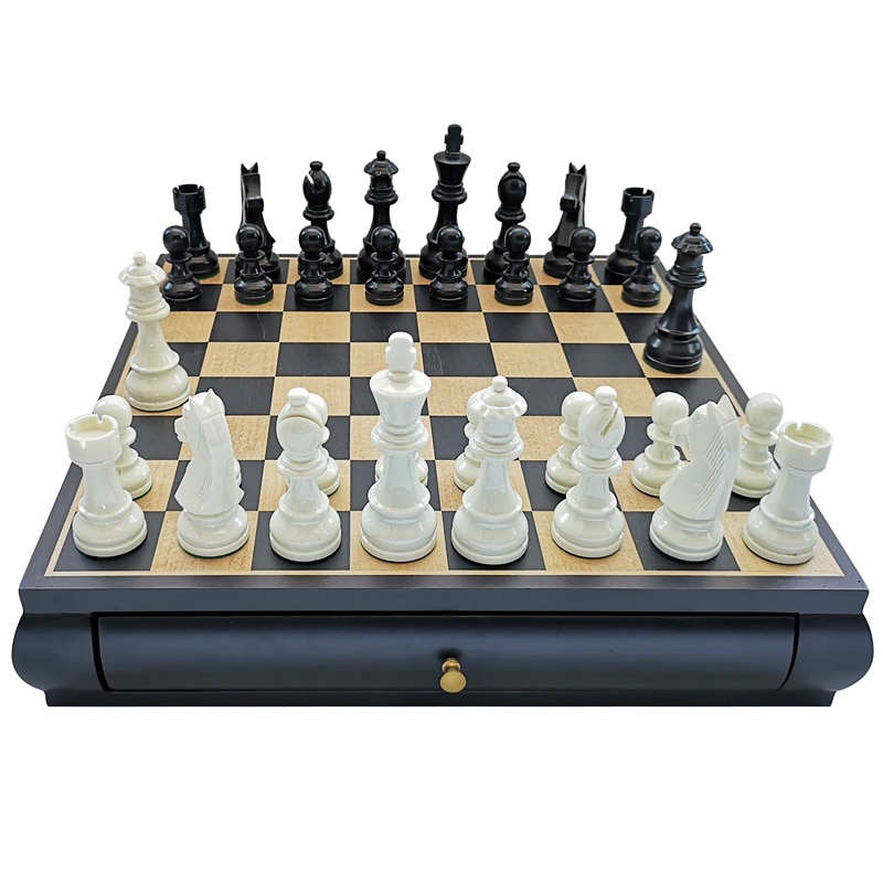 Minimalist Wooden Chess Set Luxury Crafted Large Magnetic Board Games For Adults Chess Set Tournament Board Game BG50CS