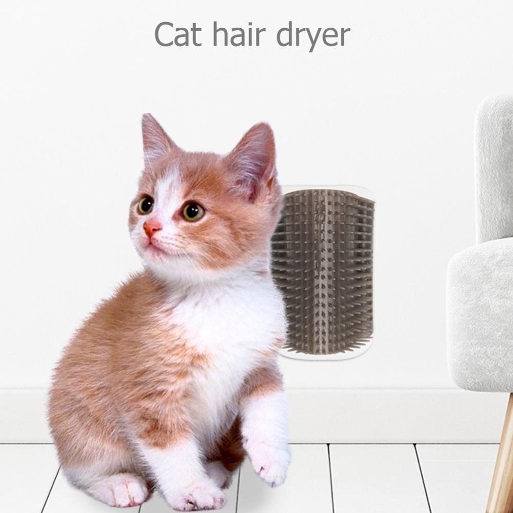 Peine para mascotas removible para esquina de gato rascador cepillo de frotamiento eliminación de pelo de mascotas peine de masaje para mascotas suministros de limpieza Envío Directo
