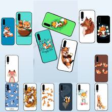 Cartoon fox Phone Case For Huawei P20 P30 P9 P10 plus P8 lite P9 lite Psmart 2019 P20 pro P10 lite