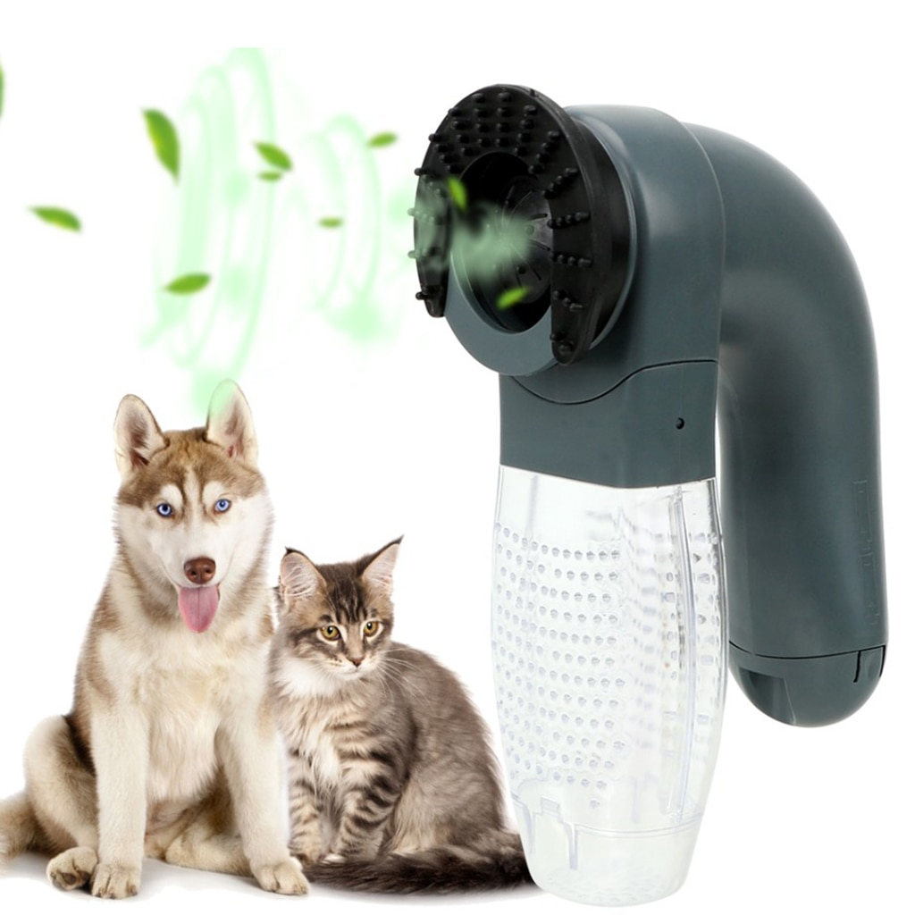 Electric Pet Hair Sucker Portable Vacuum Cleaner Fur Hair Remover Brush Cat Dog Comb Grooming Suction Device Pet Accessories