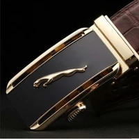 linshe crocodile the belt male fashion leisure belts business men genuine leather automatic buckle men belt trend