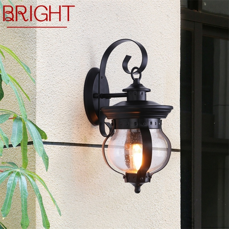 BRIGHT Outdoor Retro Wall Light Classical Sconces Lamp Waterproof IP65 LED For Home Porch Villa