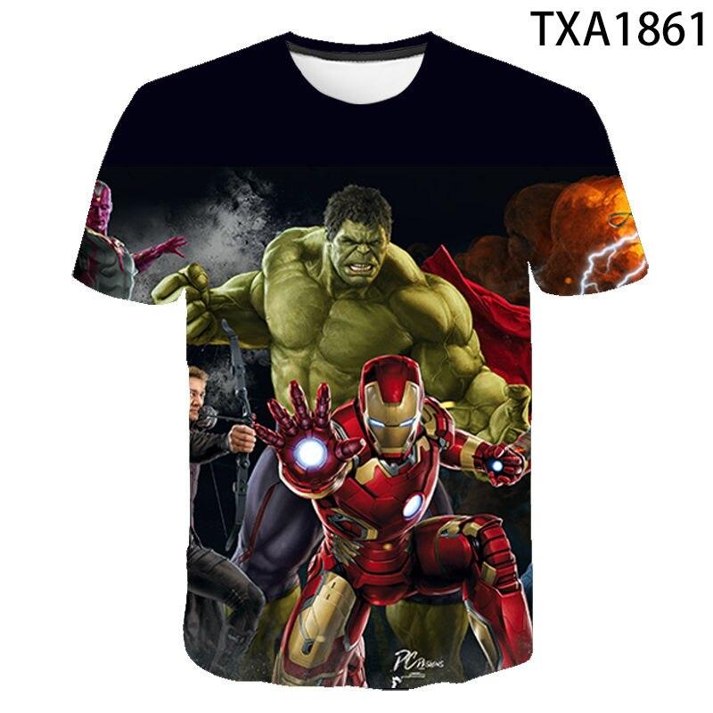 moda-estiva-marvel's-the-avengers-stampato-3d-t-shirt-uomo-donna-bambini-cool-tee-top-uomo-streetwear-cool-boy-girl-kids