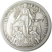 Alemanha, 1 thaler 1698 prata chapeado cópia moeda