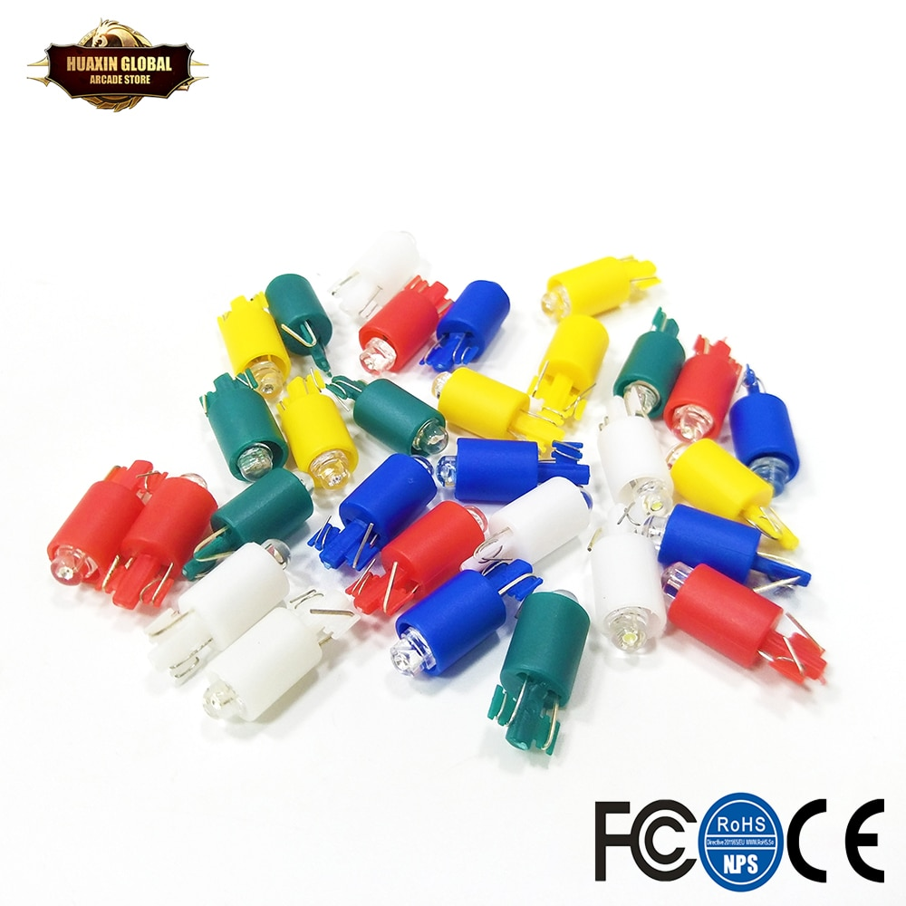 20 piezas DC12V 5V iluminado LED Bombilla Arcade botón Led luz blanca/Rojo/amarillo/verde/azul/colorido intermitente disponible