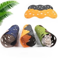 diy cat play tunnel hiding toys kitten collapsible tunnel mat with multiple tracking holes pet sleeping bed tunnels tube