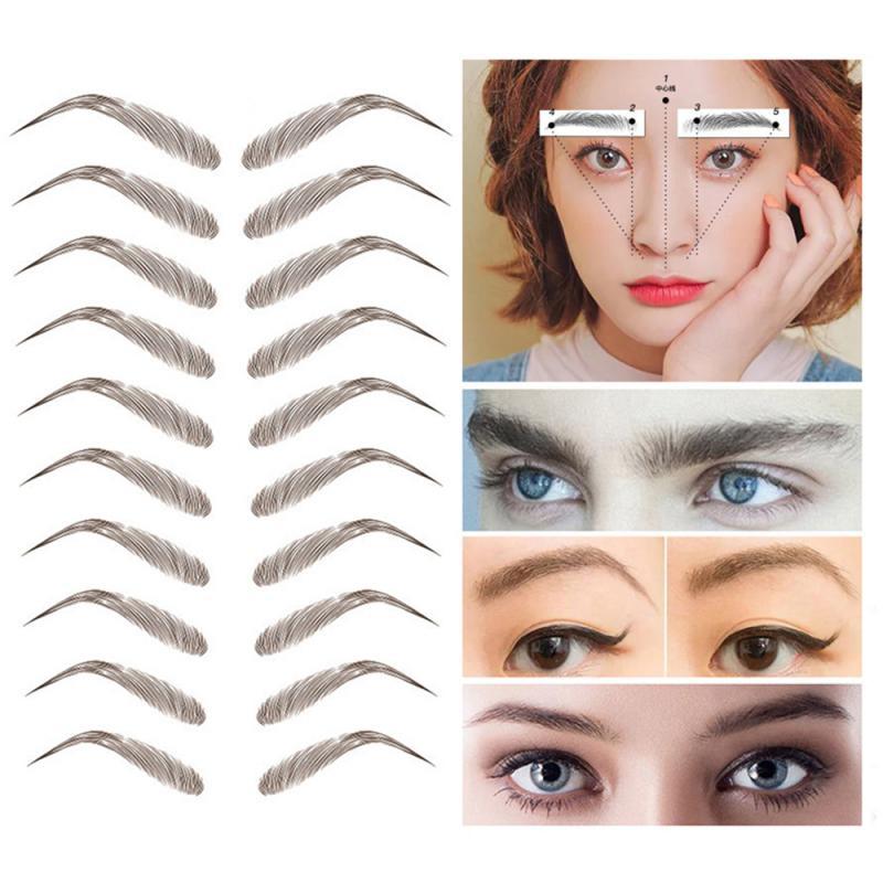 Pegatina para cejas, tatuaje semipermanente, resistente al agua, parche para cejas, imitación de CEJA Natural de larga duración, pegatina para cejas ecológica