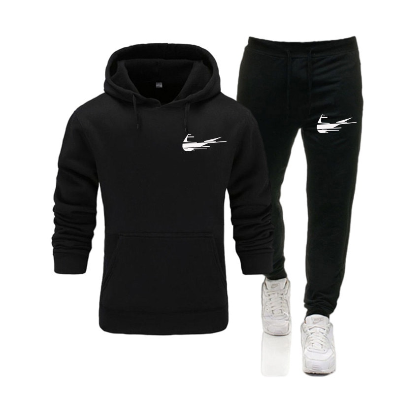 2021 Hot Men Casual Tracksuit Winter Clothes Sportswear Two Piece Set Hoodies Brand Track Clothing Male Sweatsuit Sports Suits