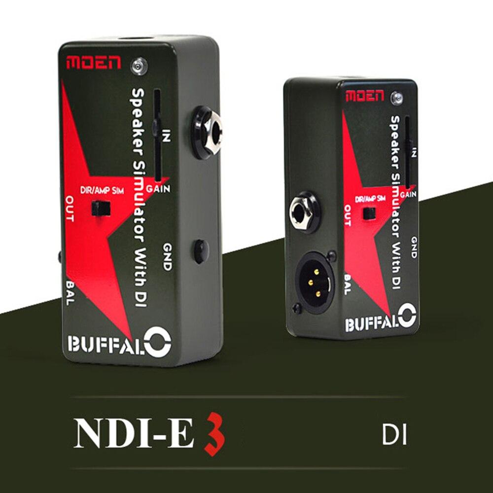 1 قطعة موين الغيتار الكهربائي تأثير دواسة NDI-E3 المتكلم محاكاة مع DI